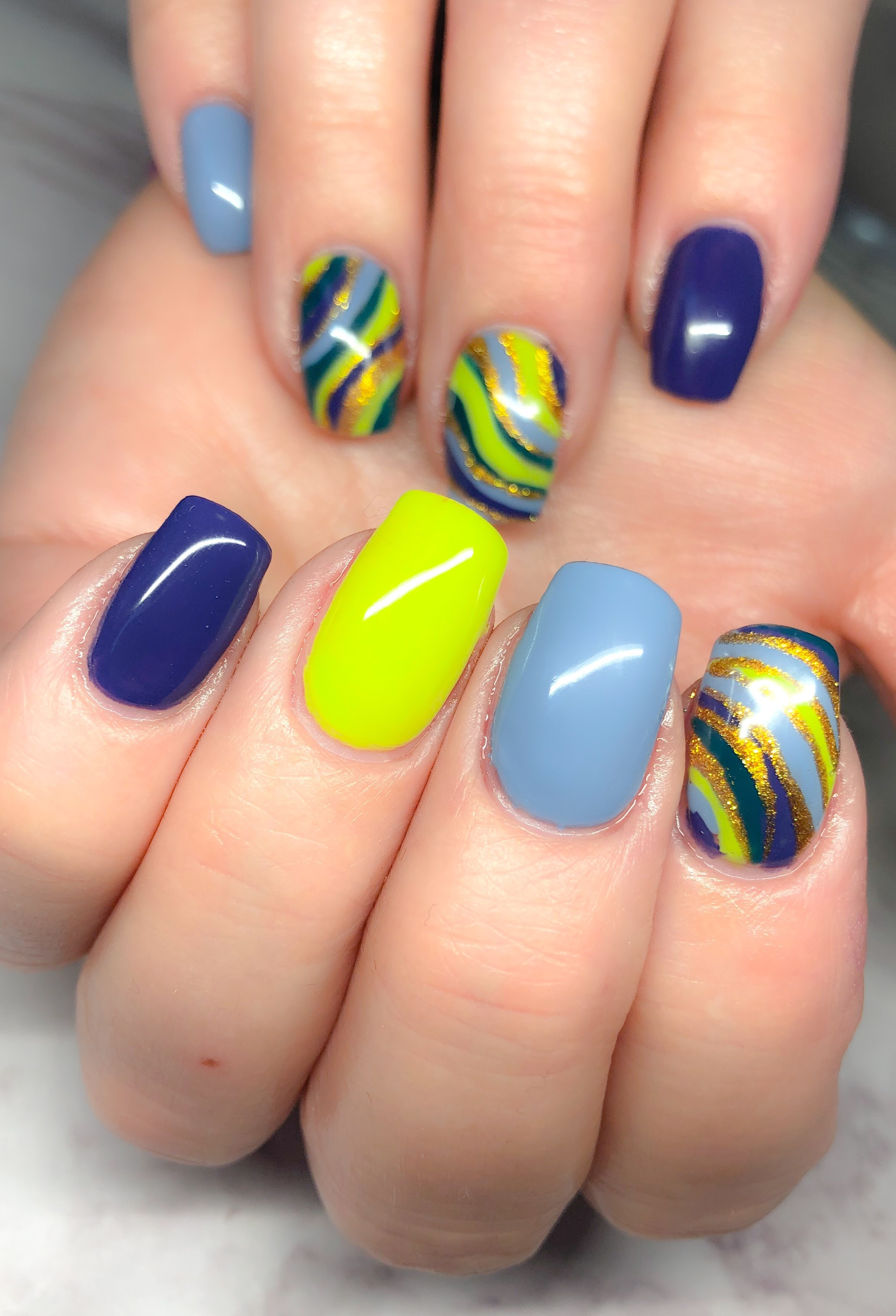 Day 79: Colorful Abstract and Floral Nail Art
