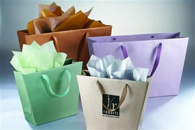 Metallic Trapezoid Bags