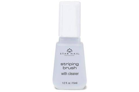 Star Nail S New 1 2 Oz Striping Brush With Cleaner Is A Long Thin That Soaks In Cleaning Solution Having The And Pre Packaged