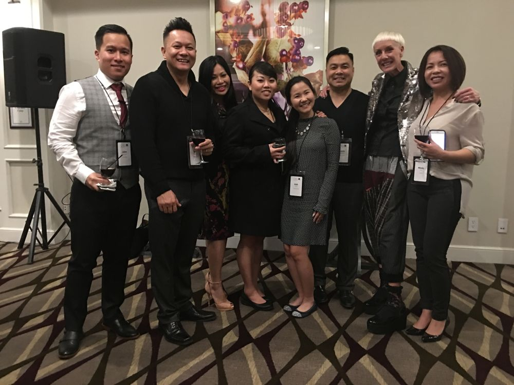 <p>John Nguyen, Tan Nguyen, June Rivera, ThaoLy Pham, Anh Tran, Kevin Nguyen, Jan Arnold and Mindy Cao from Davi Nails. </p>