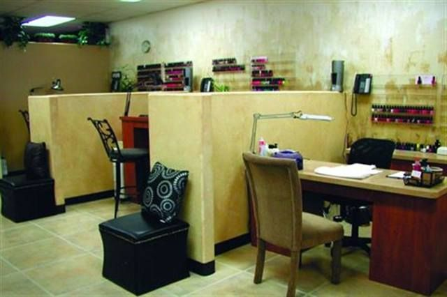 <p>Neutral-toned partial walls separate the manicure stations at Da-Lonnie&rsquo;s Hair &amp; Nail Studio in Las Vegas. &shy;Owner Loni &shy;Jensen Preato cautions that even though they are non-weight-bearing walls, she needed a county license to install them, so check your local &shy;building codes before adding faux walls.</p>