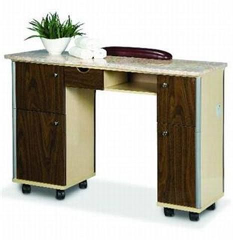 <p>European Touch introduces Salon Craft, a new furniture and appliance line. From custom to quick ship items, this high-quality and well-designed furniture is sure to complement any salon or spa. This manicure table (which ships within 7 to 10 days) features dark and light wood tones, ample storage, and an elegant marble finish.</p>