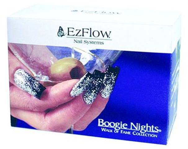 <p><strong>2005 Favorite Design/Colored Acrylic: EZ Flow Boogie Nights Kits</strong></p> <p>2nd: Creative Nail Design Mosaic Powders Kit, 3rd: OPI Absolutefx Chromatones Precision Color Powders, 4th: NSI Technailcolor, 5th: INM Powder Paints Tropical Collection</p>