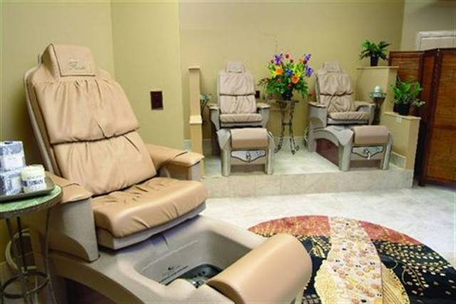 Charles Penzone, the Grand Salon in Columbus, ohio, features The Grand Pedicure for $55 and 55 minutes. The signature sevice is the creme de la creme of Penzone's pedicure offerings. In a quiet, custom-designed environment, technicians restore order to busy feet and then exfoliate legs and feet before trating the client to an energizing massage.