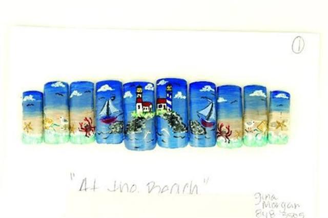 """2003: """"At the Beach"""" by Gina Morgan"""