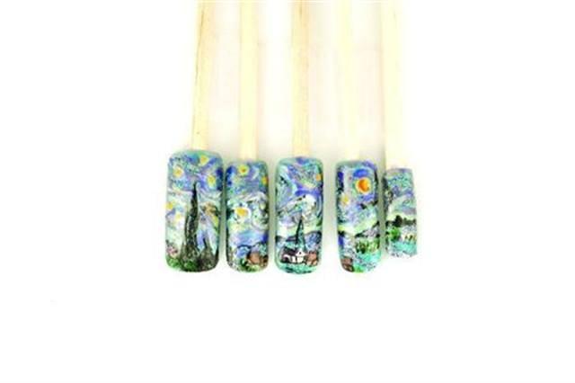 "2003 2ND RUNNER-UP: ""Van Gogh's Starry Night"" by Kelly Chamberland, Westford, Mass."