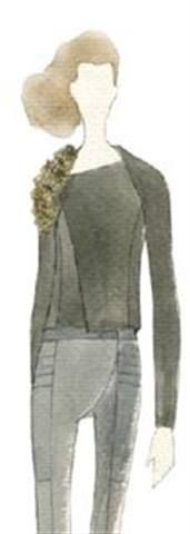 <p><strong>Oyster Gray</strong>, a classic neutral that grounds the palette, is a lighter take on the traditional fall gray, as designers heed consumers&rsquo; concern about the economy and deliver investment pieces that carry through to spring 2011.</p> <p>Illustration by Tia Cibani. Originally appeared in the Pantone Fashion Color Report Fall 2010.</p>