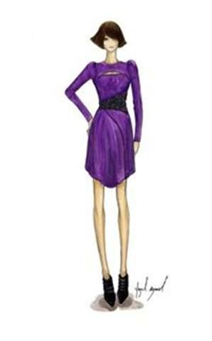 <p>Exotic <strong>Purple Orchid</strong>, a purple leaning to fuchsia, is an unexpected choice for fall, imbuing a bit of magic and vibrancy to the season.</p> <p>Illustration by Yigal Azrou&euml;l. Originally appeared in the Pantone Fashion Color Report Fall 2010.</p>