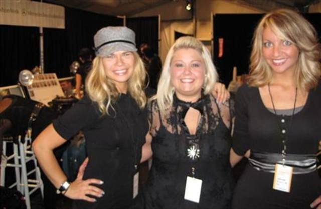 <p>The China Glaze team at the Tadashi Shoji show; from left to right: Julie Kandalec, Heather Nicholson, and Chelsea Rader, all three of Jenniffer &amp; Co. in Mentor, Ohio.</p>