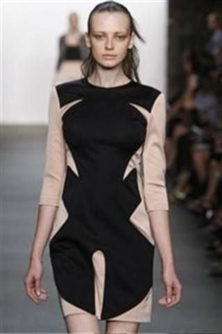 <p>Priti polish in Shirley Temple Peony was applied with a matte base coat over the top to provide an almost latexy finish for nails at the Thakoon show.</p>
