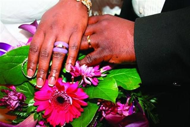 <p>Bride: Kesha Hackett-Belcher, Lavender Nail and Make-up, Studio, Oakland, Calif.</p>
