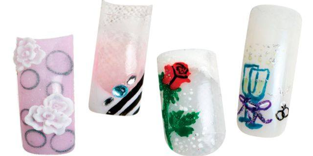 <p>Pinks, Frenches, and flowers ruled in the bridal nail art designs that four NAILS readers came up with.</p>