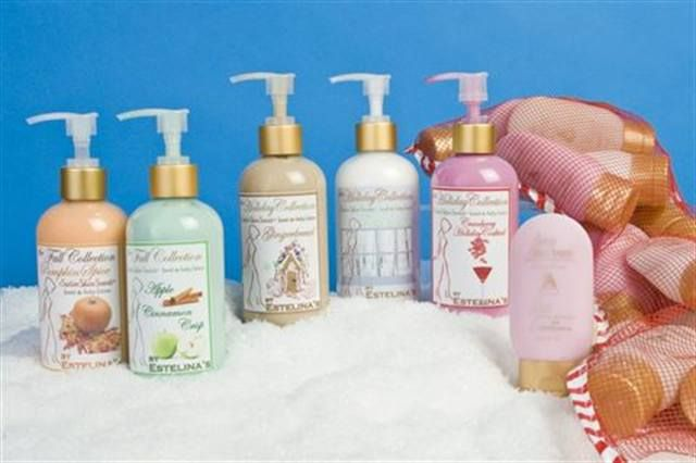 "<p><a href=""http://www.nailsmag.com/fifi/80155"">Estelina</a> has three festive collections this year; the Stocking Stuffer Special has 24, 2.5 oz. lotions in a fun net stocking. The Satin Skin Scents come in the Halloween/ Thanksgiving flavors of Apple Cinnamon and Pumpkin Spice and the Christmas flavors are Gingerbread, Cranberry, and White Christmas.</p>"