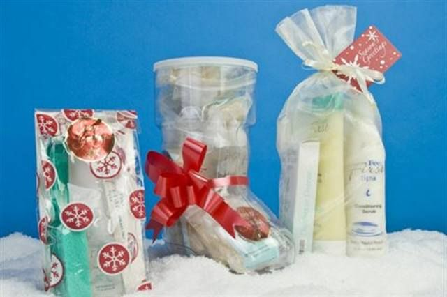 "<p><a href=""http://www.nailsmag.com/fifi/80261"">Feet First Spa</a> has three holiday packages; a Holiday Santa Boot filled with Callus Remover Drops and Pumice Bars, a Holiday Wand Cello Gift Bag, with a Pummz Wand, Callus Remover, and Nail File; a Holiday Organza Full-Size, with an 8-oz. Sugar Scrub, 8-oz. Conditioning Scrub, Buffing Pad, and Scrub Gloves.</p>"