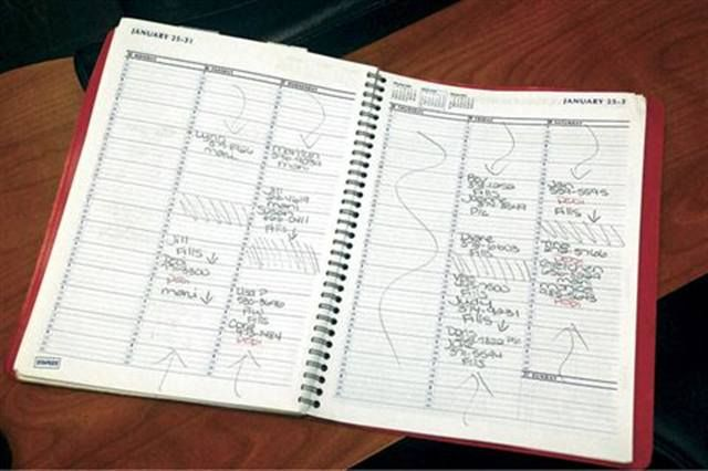 <p>When I buy my new appointment book for the year, I put all of my regulars in there for the whole year.</p>