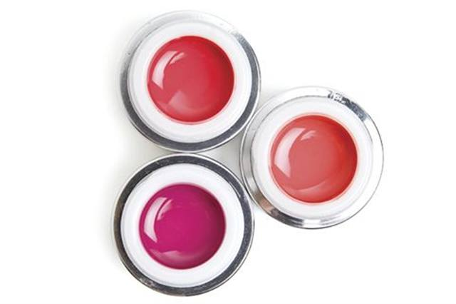 """<p><a href=""""http://www.akzentz.com""""><strong>Akz&eacute;ntz&rsquo;s</strong> </a>Options Colour Gels have a wide variety of spring shades. There are 14 total colors of these high-quality gels. Pink Poppy, Coral Rose, and Dawn&rsquo;s Blush are shown here.</p>"""