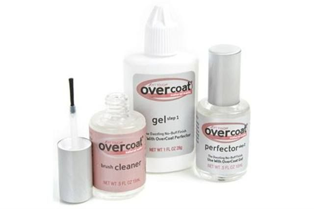 <p><strong>Soft Touch&rsquo;s </strong>Overcoat is a one-step gel application that is soaked off in acetone. Overcoat is not a top coat but it can be applied over a polished nail to prevent breakage, splitting, and peeling. The non-yellowing formula is self-leveling, so it is easy to apply, and the Overcoat does not have to be cured with a light. &nbsp;<br /><strong>www.nailsmag.com/fifi/80217</strong></p>