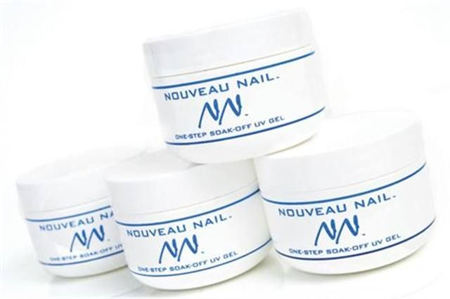 <p><strong>Noveau Nail&rsquo;s</strong> One-Step Soak-Off UV Gel System Kit produces enhancements with great strength and durability. The gels soak off easily &mdash; simply file the top of the nail then soak in pure acetone for 15 minutes and the gels will come off easily with a pusher. &nbsp;<br /><strong>www.nailsmag.com/fifi/19464</strong></p>