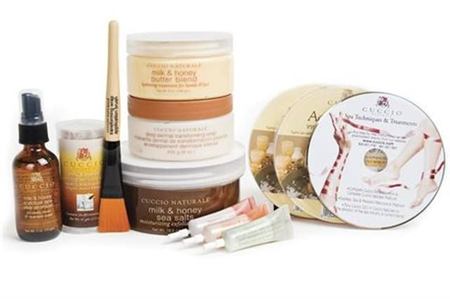 """<p><strong>Cuccio Natural&eacute;&rsquo;s&nbsp; </strong>Milk and Honey Signature Service Kit combines soothing and hydrating qualities to rejuvenate skin and leave it soft, smooth, and pleasantly fragranced. The kit includes Fizz Balls for soaking, a Deep Dermal Wrap, Body Butter, Sea Salt Scrub, and Elixir Spray to create an ultimate themed service.<br /><a href=""""http://www.cuccio.com""""></a></p> <p><a href=""""http://www.cuccio.com"""">www.cuccio.com</a></p>"""
