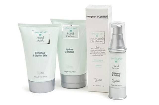 """<p><strong>Gena&rsquo;s </strong>SpaCaviar Hand Treatments are a delight for hands, protecting them from free radicals and sun damage while rejuvenating them with anti-aging properties. The line incorporates a series of extracts to benefit skin, and includes a Cr&egrave;me, Mask, Serum, and Nail &amp; Cuticle Treatment.</p> <p><a href=""""http://www.genaspaproducts.com/"""">www.genaspaproducts.com</a></p>"""
