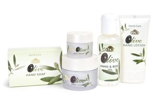 """<p><strong>LCN&rsquo;s</strong> Olive Line benefits from the moisturizing and protective substances in olives that are beneficial to the skin, making it the es&shy;sential oil for daily body and skin care. The special hand care line includes Hand Peeling, Nail Balm, Hand Soap, Hand Lotion, and Hand and Body Oil.</p> <p><a href=""""http://www.lcnusa.com"""">www.lcnusa.com</a></p>"""