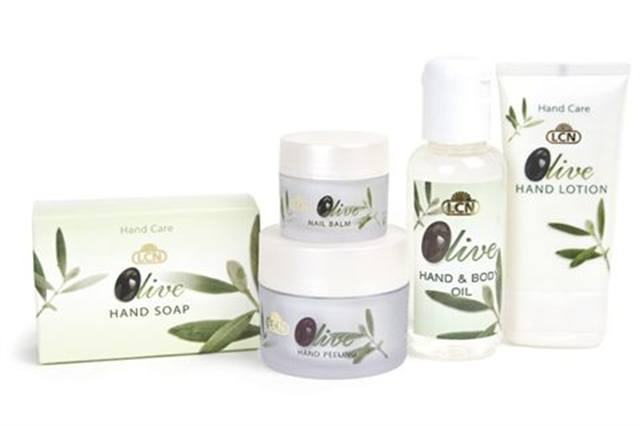 "<p><strong>LCN&rsquo;s</strong> Olive Line benefits from the moisturizing and protective substances in olives that are beneficial to the skin, making it the es&shy;sential oil for daily body and skin care. The special hand care line includes Hand Peeling, Nail Balm, Hand Soap, Hand Lotion, and Hand and Body Oil.</p> <p><a href=""http://www.lcnusa.com"">www.lcnusa.com</a></p>"
