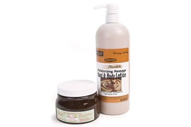 """<p><strong>Nailite&rsquo;s</strong> super sweet and creamy Chocolate line is the perfect indulgent treat for hands. The Chocolate Moisturizing Massage Hand and Body Lotion adds a hydrating coat of moisture without a greasy residue and works great after the invigorating Cocoa Sugar Scrub exfoliation.<br /><br /><a href=""""http://www.nailiteinc.com"""">www.nailiteinc.com</a></p>"""