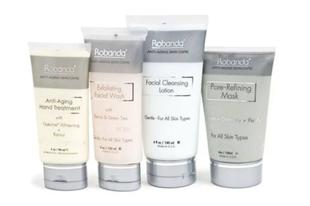 """<p><strong>Robanda&rsquo;s </strong>Anti-Aging Hand Treatment with SPF 20 works great with Robanda&rsquo;s new Facial Manicure products. The Exfoliating Wash, Pore-Refining Mask, and Cleansing Lotion are soft enough to be used on the face, but effective enough to work on hands as well. The Anti-Aging Treatment then helps smooth wrinkles and protects skin from further damage.<br /><br /><a href=""""http://www.robanda.com"""">www.robanda.com</a></p>"""