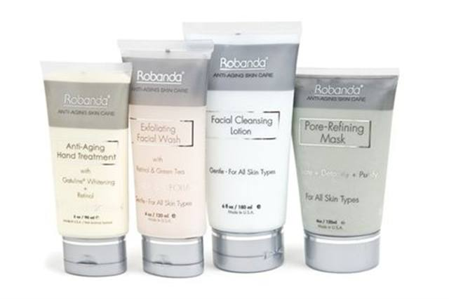 "<p><strong>Robanda&rsquo;s </strong>Anti-Aging Hand Treatment with SPF 20 works great with Robanda&rsquo;s new Facial Manicure products. The Exfoliating Wash, Pore-Refining Mask, and Cleansing Lotion are soft enough to be used on the face, but effective enough to work on hands as well. The Anti-Aging Treatment then helps smooth wrinkles and protects skin from further damage.<br /><br /><a href=""http://www.robanda.com"">www.robanda.com</a></p>"