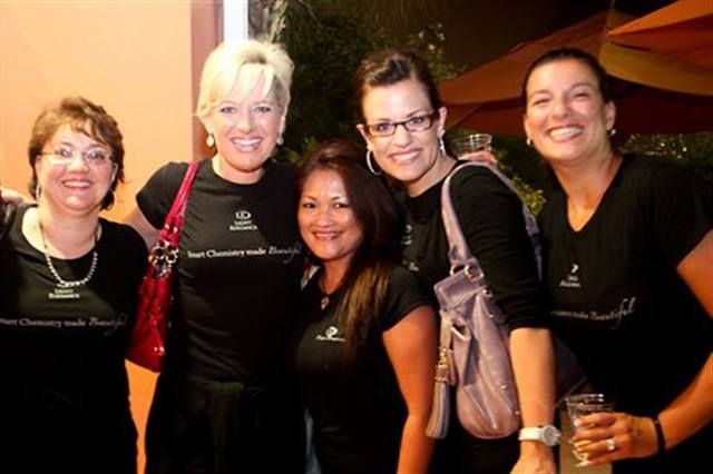 <p>The Light Elegance team of (from left to right) Jayne Burger, Lezlie McConnell, Mylyn Hansen, Liz Hyerstay, and Pina More came out in full force.</p>