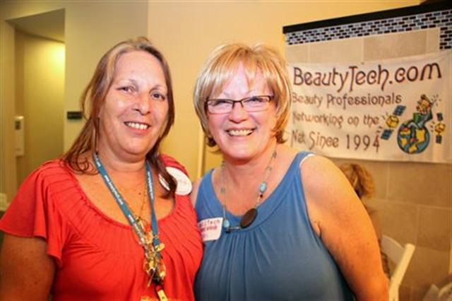 <p>BeautyTech founder and webmaster Debbie Doerrlamm and industry guru Vicki Peters have been networking buddies from the beginning.</p>