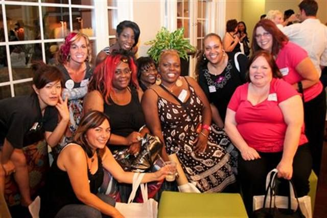 <p>New friends and old gathered at the party. (Front row: Natalie Figorotta-Frank, Honey, Solange Richardson, Daphne Allende, and Christine McGrath. Back Row: Mai Kiyotake, TNU&rsquo;s Nickole Orton, Christine Hinds-Davis, Penny Hoyt, and Ellice Kramer.)</p>
