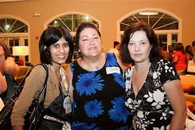 <p>Sree hangs out with Simmy Bredel-Bell (center) and Robin Richards.</p>