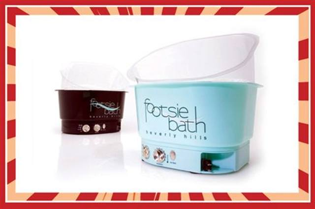<p><strong>FAVORITE PEDICURE FURNISHINGS</strong><br />1.&nbsp; Footsie Bath of Beverly Hills: <br />&nbsp;&nbsp;&nbsp;&nbsp; Footsie Bath &amp; EZ Access Tray <br />2.&nbsp; Belava: Heater/Massage Unit <br />3.&nbsp; European Touch: Platino Spa<br />4.&nbsp; Salontech: PediJoy Foot Spa <br />5.&nbsp; Pro Spa: Sophia Pedicure Spa</p>