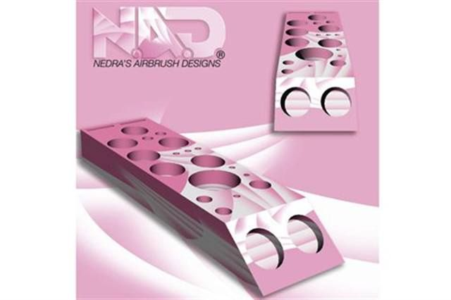 """<p>This handcrafted wooden organizer from <strong>N.A.D. Airbrush </strong>can hold polish bottles, glue, acrylic powder, nippers, clippers, and nail files. It comes airbrushed or natural. In October, 20% of the proceeds will go to the fight against breast cancer.</p> <p><a href=""""http://www.nadairbrush.com"""">www.nadairbrush.com</a></p>"""