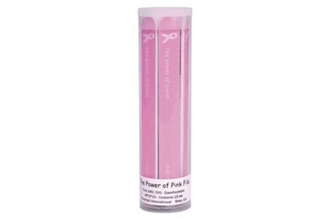 "<p><strong>Soft Touch</strong> has created a &ldquo;Power of Pink&rdquo; File especially for the month of October. These 7-in. disinfectable files are perfect for natural nails. The 280/320-grit files are packaged 15 to a tube. The company will be donating a portion of its proceeds to The City of Hope.</p> <p><a href=""http://www.softtouch.net"">www.softtouch.net</a></p>"