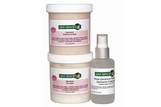 "<p><strong>Spa Specifics</strong> will donate 20% of the purchase price of the full Germaine Collection of skin care products in your spa&rsquo;s name to support breast cancer awareness. Formulated with certified organic ingredients, the Germaine Collection offers purifying, calming, balancing, and healing properties.</p> <p><a href=""http://www.spaspecifics.com"">www.spaspecifics.com</a></p>"