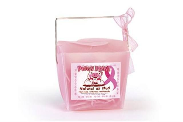 "<p>The Fight Breast Cancer gift set from <strong>Piggy Paint </strong>contains two polishes (Forever Fancy and Angel Kisses) in a cute pink pail. The polishes are odor-less, hypoallergenic, and water-based. A portion of the proceeds benefits Susan G. Komen for the Cure.</p> <p><a href=""http://www.piggypaint.com"">www.piggypaint.com</a></p>"