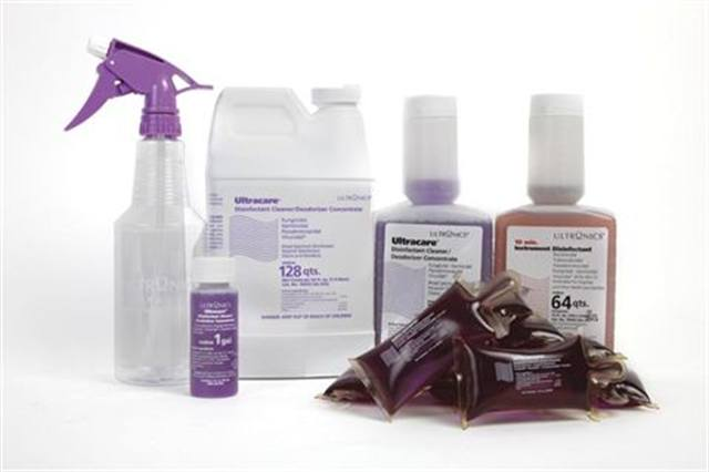 """<p><strong>Ultronics&rsquo;</strong> 10 Min. Instrument Disinfectant has an anti-corrosive agent for use with metal implements; the Ultracare Disinfectant Cleaner/Deodorizer Concentrate will not damage plastics and is ideal for stainless steel implements, pedicure spas, and other surfaces; the Ultracare Surface Disinfectant Spray System includes a spray bottle and is perfect for sinks, telephones, countertops, and more; and the Ultracare Disinfectant Pillowpacks are formulated with chelating surfactants to effectively prevent biofilm buildup in pedicure spa pipes.<a href=""""http://www.ultronicsusa.com""""> www.ultronicsusa.com</a></p>"""