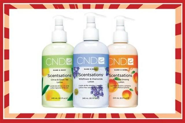 <p><strong>FAVORITE LOTION FOR HANDS AND BODY</strong><br />1.&nbsp; CND: Creative Scentsations <br />&nbsp;&nbsp;&nbsp;&nbsp; Hand &amp; Body Lotion <br />2.&nbsp; OPI Products: Avojuice <br />&nbsp;&nbsp;&nbsp;&nbsp; Skin Quenchers Lotion <br />3.&nbsp; Tammy Taylor Nails: <br />&nbsp;&nbsp;&nbsp;&nbsp; Peach Moisture Lotion <br />4.&nbsp; Young Nails: Lomasi <br />&nbsp;&nbsp;&nbsp;&nbsp; Lotions and Cremes<br />5.&nbsp; Cuccio Natural&eacute;: Cuccio Lytes Ultra <br />&nbsp;&nbsp;&nbsp;&nbsp; Sheer Body Butter</p>