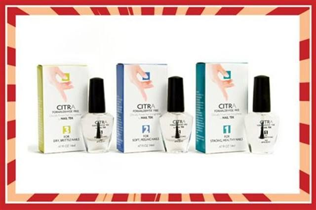 <p><strong>FAVORITE NEW PRODUCT</strong><br /> <br /> 19.&nbsp;&nbsp;&nbsp; Nail Tek: Citra <br /> &nbsp;&nbsp;&nbsp;&nbsp;&nbsp;&nbsp;&nbsp;&nbsp; Formaldehyde Free Strengtheners</p>