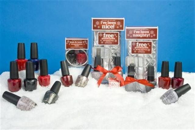 "<p><a href=""http://www.nailsmag.com/fifi/80195"">OPI</a> has a few different packages for this year's holidays. Holiday in Toyland is a polish line with 12 festive lacquers — six reds, and six dark and neutral tones. OPI also has two special packages, ""I've Been Naughty"" and ""I've Been Nice,"" that come with two polishes and a complimentary purse. The ""Joys and Toys"" package rounds out the holiday specials, featuring two polishes and a free bracelet.</p>"