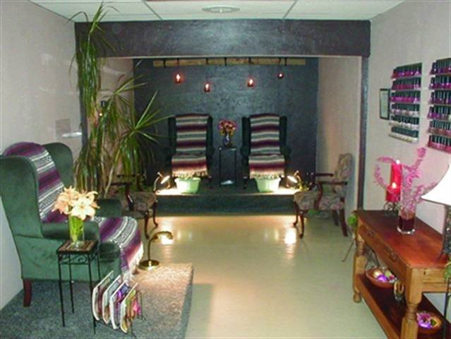 """Brook Street Day Spa's (Wichita Falls, Texas) motto is """"Your Private Retreat.""""  They have created an environment with each room designed with its own personality. The pedicure room has a mural and Southwestern decor."""