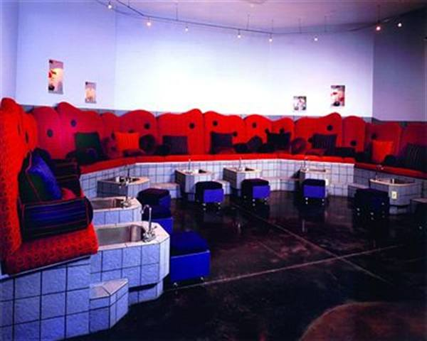 <p>Eight girls, 16 feet, anda whole lot of fun can be found daily in Seventeen Salon's &quot;pedicure pit&quot; in Plano, Texas.</p>
