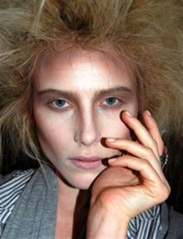 <p>This model is wearing Kinetics&rsquo; Satin and Silk polish, topped with Matte One Night top coat, for The Vivienne Westwood Red Label show at London Fashion Week.</p>