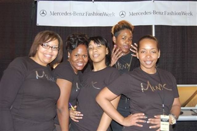 <p>The Minx team was led by Lisa Logan (far right) and included Cenita Scott, Teetee Philadore, Shawnt&eacute; Foye, and Donna Michelle.</p>