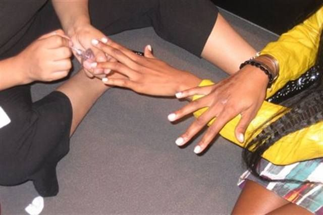 <p>For the Jillian Lewis show, the Dashing Diva team created a light matte white polish by applying Pure Foundation base coat, a coat of the NYC Fleet Street, and leaving off the top coat.&nbsp;</p> <p><em>Photography by Dashing Diva</em></p>
