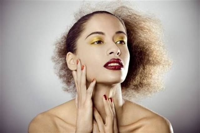 <p>Manicurist Dawn Sterling applied Minx Ruby Red Lightning on model Genevieve during New York Fashion Week.</p> <p><em>Photography by Sarah Louise Johnson</em></p>