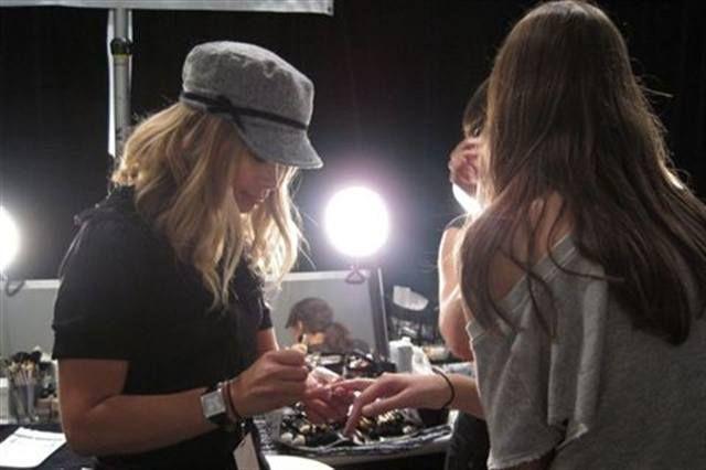 <p>Led by Mentor, Ohio-based nail tech Julie Kandalec, the China Glaze team designed sheer nails &mdash; in China Glaze Innocence &mdash; &nbsp;for each model that walked &nbsp;the Tadashi Shoji Runway Show.&nbsp;</p>