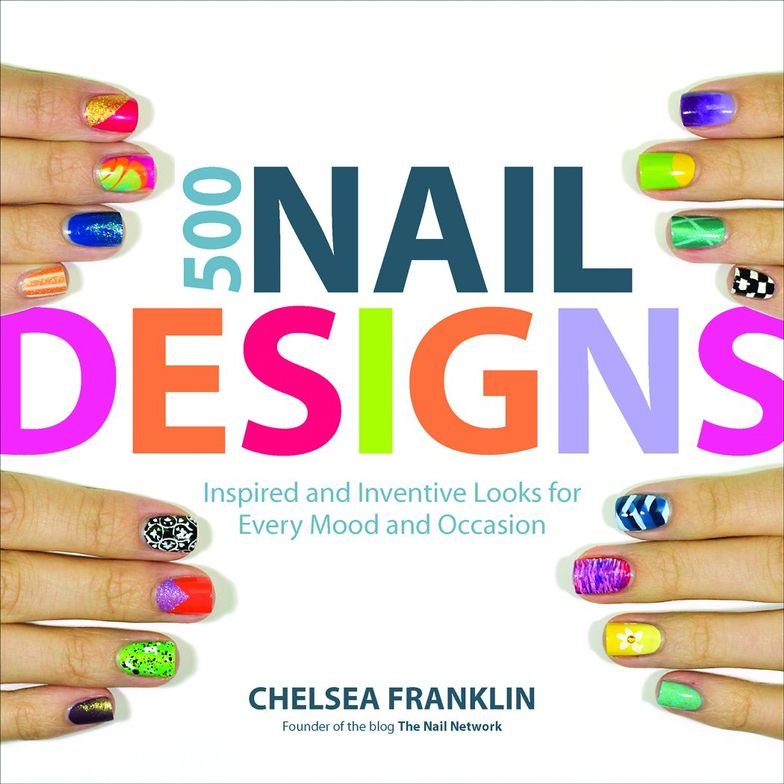 """<p>500 Nail Designsby Chelsea Franklin</p> <p>Dramatic designs, multi-colored graphics, and a play on textures and finishes are just some of the 500 designs you will find to fit every mood and occasion. Chelsea Franklin, author of the popular blog, <a href=""""http://www.the-nail-network.com/"""">The Nail Network</a>, combines her passions for photography and nail polish to bring you this must-read. </p>"""